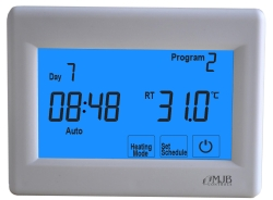 H8100H 7 Day Programmable Floor Heating Touch Screen Thermostat.